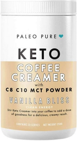 Paleo Pure Keto Coffee Creamer w/MCT Powder Vanilla Bliss 250g