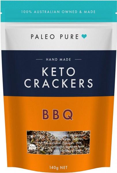 Paleo Pure Keto Crackers BBQ 140g