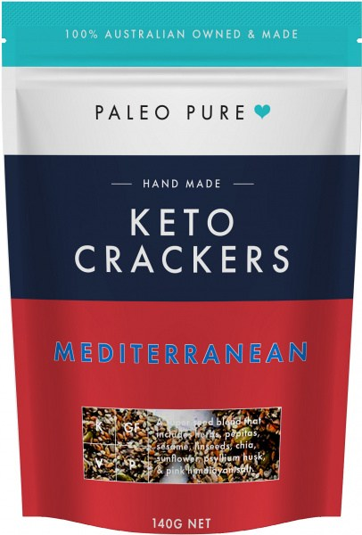 Paleo Pure Keto Crackers Mediterranean 140g