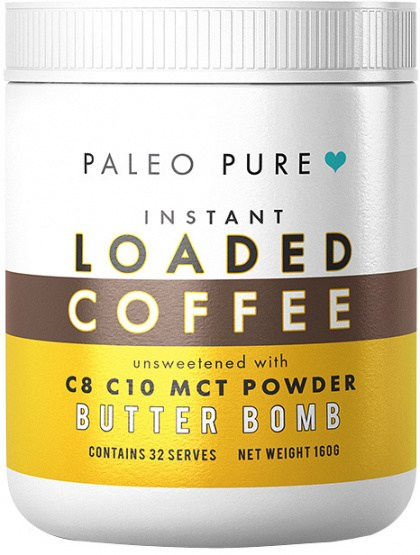 Paleo Pure Loaded Instant Coffee Butter Bomb 160g