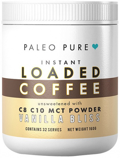 Paleo Pure Loaded Instant Coffee Vanilla Bliss 160g