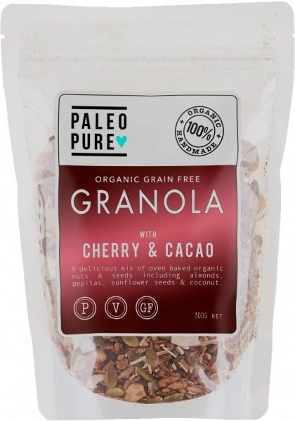 Paleo Pure Ogranic Grain Free Granola Cherry Cacao  300g