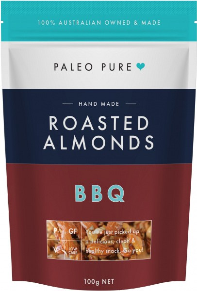Paleo Pure Roasted Almonds BBQ 100g