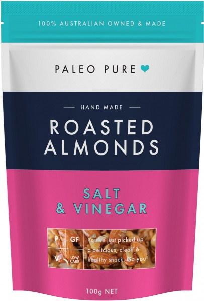 Paleo Pure Roasted Almonds Salt & Vinegar 100g