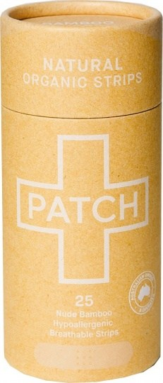 PATCH Natural Organic Adhesive Strips Tube of 25