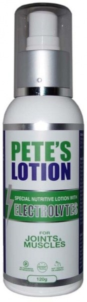 Pete's Lotion with Electrolytes for Joints & Muscles  120g