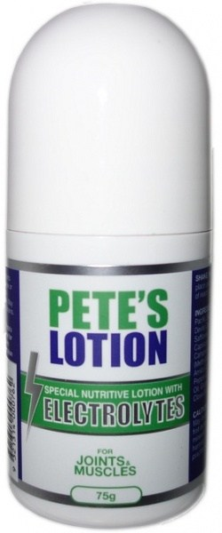 Pete's Lotion with Electrolytes for Joints & Muscles Roll On 75g