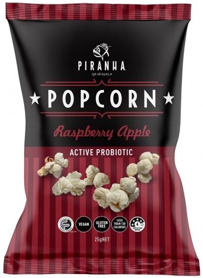 Piranha Popcorn Raspberry Apple  24x25g