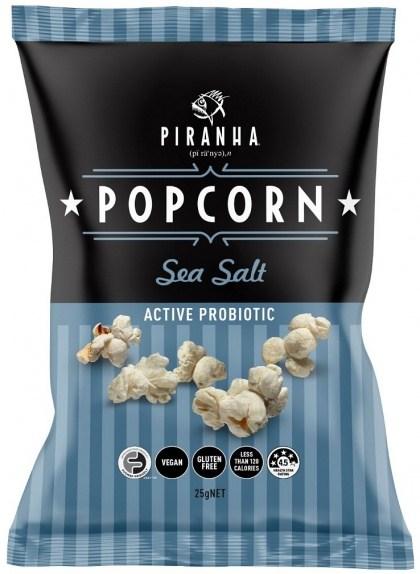 Piranha Popcorn Sea Salt   24x25g