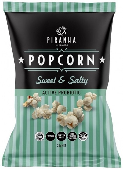 Piranha Popcorn Sweet & Salty  24x25g