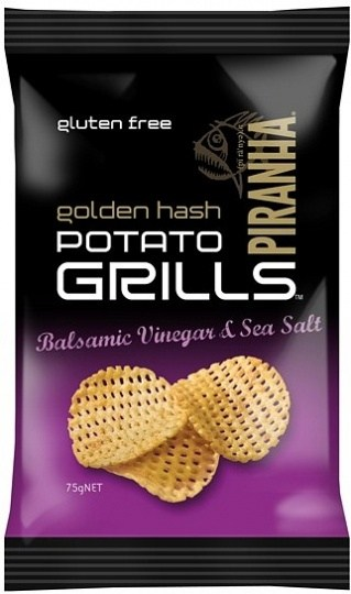Piranha Potato Grills Balsamic Vinegar & Salt 12x75g