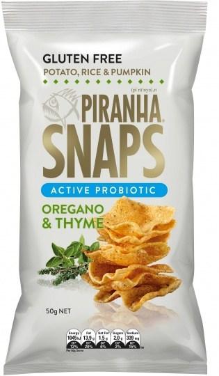 Piranha Snaps Probiotics Oregano & Thyme  12x50g
