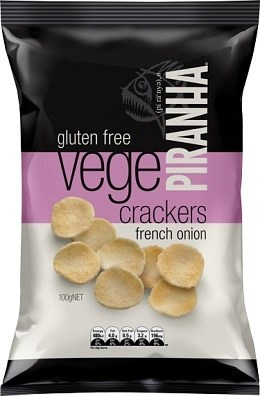 Piranha Vege Crackers French Onion  100g