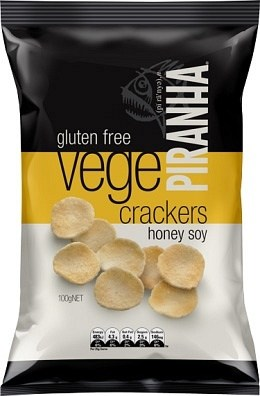 Piranha Vege Crackers Honey Soy  100g