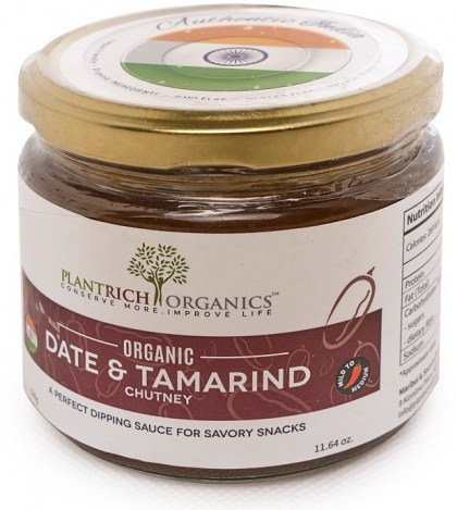 Plantrich Organics Organic Date & Tamarind Chutney  330g