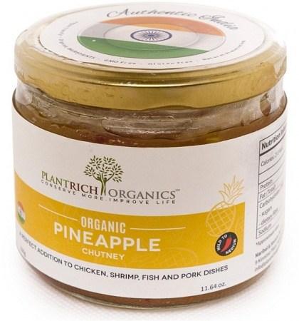 Plantrich Organics Organic Pineapple Chutney  330g