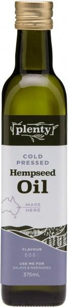 Plenty Cold Pressed Hempseed Oil 375ml