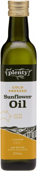 Plenty Cold Pressed Sunflower Oil 375ml