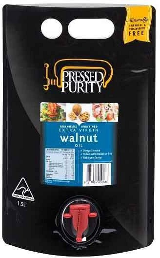 Pressed Purity Walnut Oil  1.5L NOV21