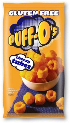 Puff-O's Cheesy Tubes  5x90g