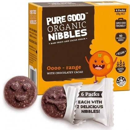 Pure Good Organic Nibbles Oooo-range w/ Chocolatey Cacao  120g