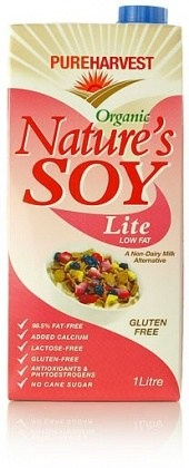 Pure Harvest Natures Soy Lite/Low Fat+Calcium 1Ltr