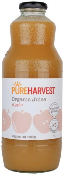 Pure Harvest Organic Apple Juice 1ltr x 6 (1 box)