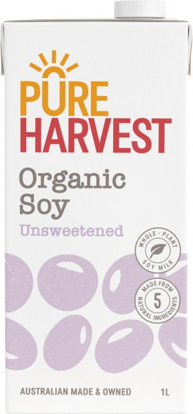 Pure Harvest Organic Nature's Soy Milk Unsweetened 1L