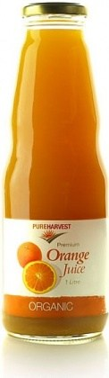 Pure Harvest Organic Orange Juice 1ltr x 6