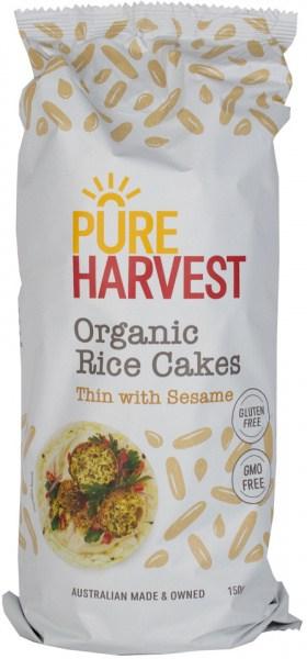 Pure Harvest Organic Sesame Rice Cakes 150g