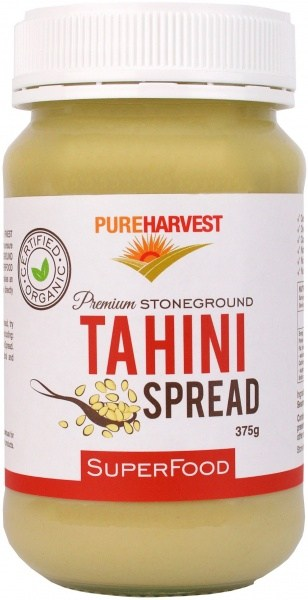 Pure Harvest Organic Tahini Dark Unhulled 375gm