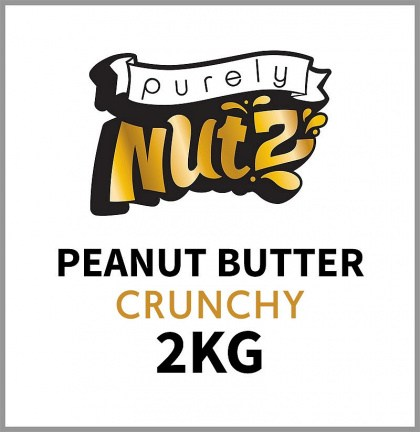 Purely Nutz 100% Natural Peanut Butter Crunchy 2Kg Pail