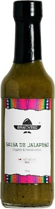 Ranchero Organic Salsa De Jalapeno Sauce 180g JUN17