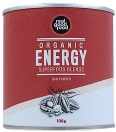 Real Good Food Organic Energy Superfood Blends Raw Powder 100g