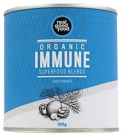 Real Good Food Organic Immune Superfood Blends Raw Powder 100g