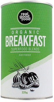 Real Good Food Organic Superfood Blends Breakfast Raw Powder 225g