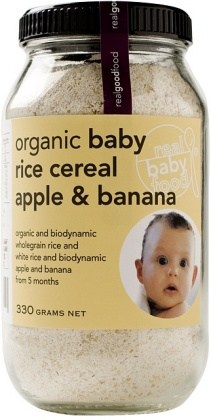 Real Good Foods Baby Rice Apple&Banana Cer330g