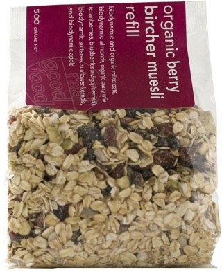 Real Good Foods Berry Bircher Muesli Refil 500g