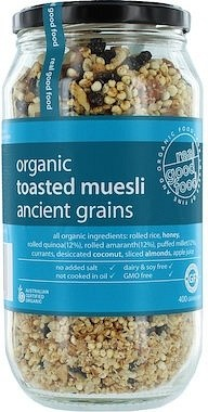 Real Good Foods Toasted Muesli Ancient Grains  Jar 400g