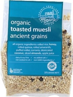 Real Good Foods Toasted Muesli Ancient Grains  Refill 375gm