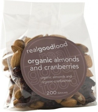 Real Good Foods Organic Almond and Cranberry 100g
