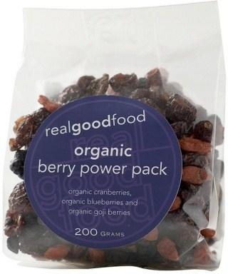 Real Good Foods Organic Berry Power Pack 200g JUN18