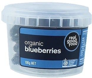 Real Good Foods Organic Blueberries Dried 100g