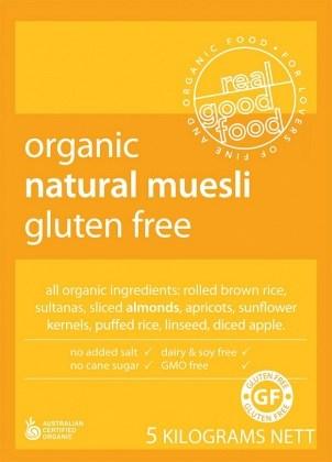 Real Good Foods Organic GF Natural Muesli Bulk 5kg