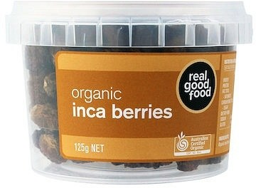 Real Good Foods Organic Inca Berries (Golden Berries) 125g