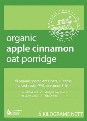Real Good Foods Organic Oat Porridge Bulk 5kg