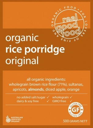 Real Good Foods Organic Rice Porridge Bag 500g