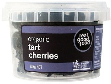 Real Good Foods Organic Tart Cherries Dried 125g