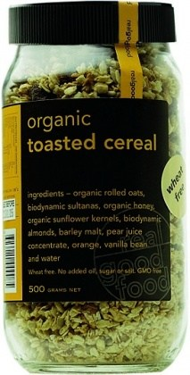 Real Good Foods Organic Toasted Cereal Jar 500g