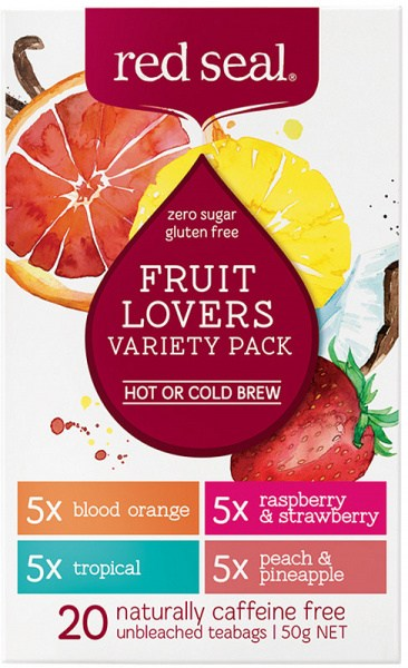 Red Seal (Hot & Cold Brew) Fruit Lovers Variety Pack 20Teabags